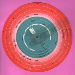 Back, Space Propulsion Calculator. Courtesy International Slide Rule Museum.